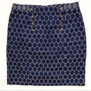 Antonio Melani Blue Polka Dot Pencil Skirt